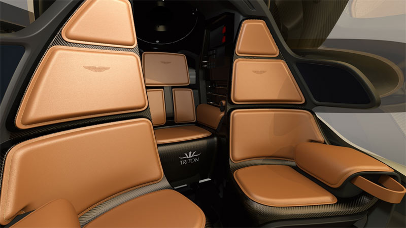 Aston Martin Triton Interior - clearly one of the more luxurious personal submarines