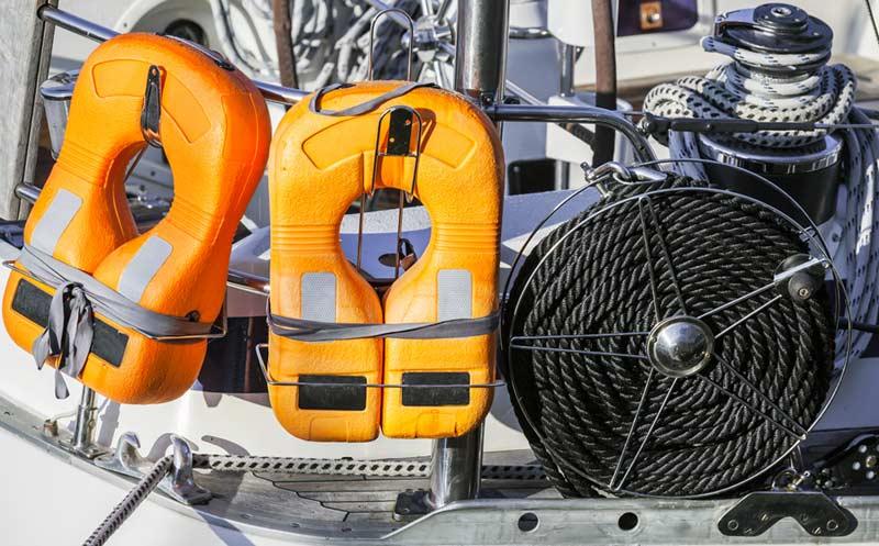 Foating Vests On Board