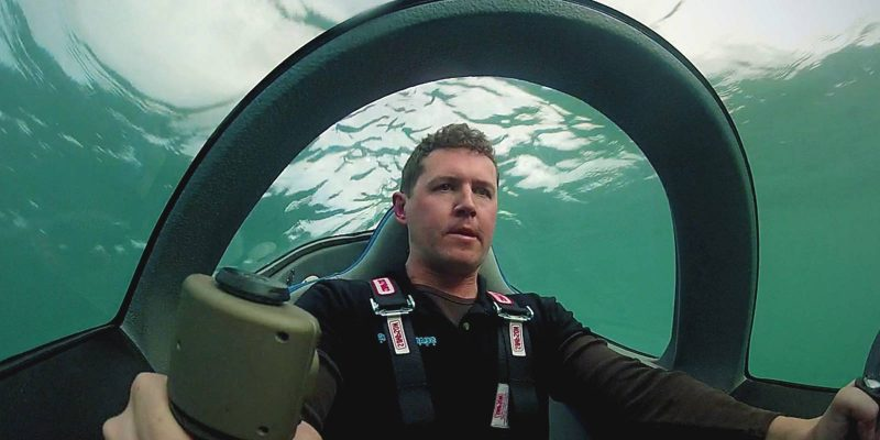 Man In Personal Submarine