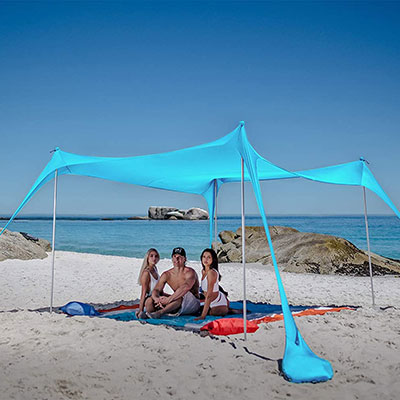 SUN NINJA Pop Up Beach Tent