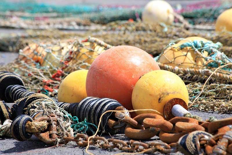 buoy trawler netting fishing port