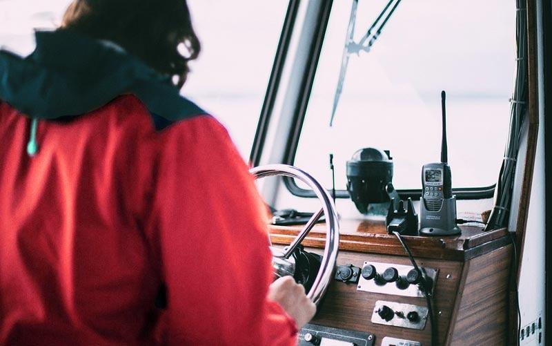 captain on charter boat