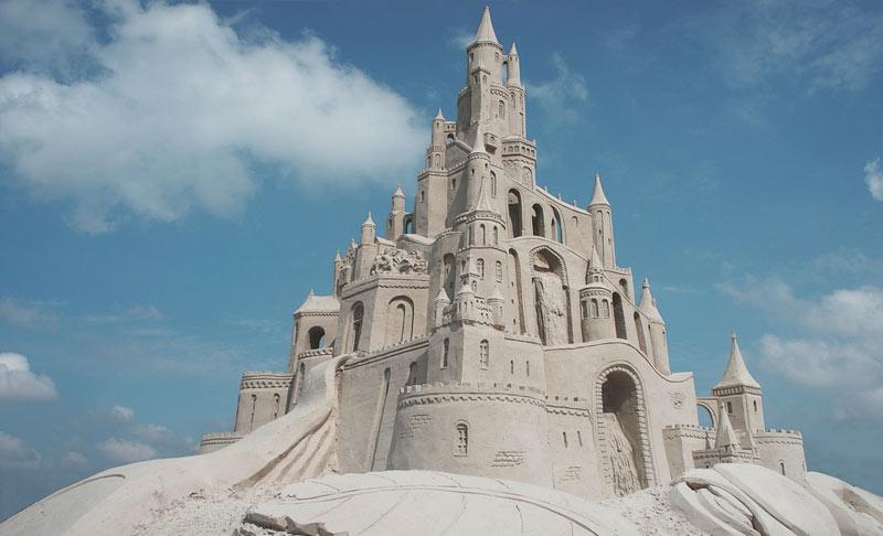 beautiful sandcastle